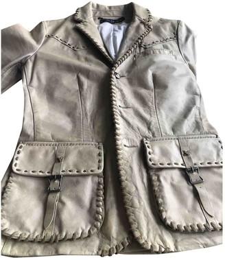 Ralph Lauren Beige Leather Leather Jacket for Women