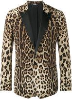 Dolce & Gabbana leopard print blazer - men - Silk/Polyester/Spandex/Elastane/Virgin Wool - 48