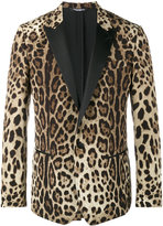 Dolce & Gabbana leopard print blazer - men - Silk/Polyester/Virgin Wool/Spandex/Elastane - 50