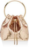 Jimmy Choo Bon Bon Sequined Satin Bucket Bag