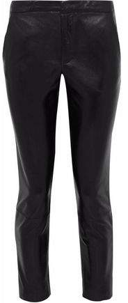 RED Valentino Cropped Leather Skinny Pants