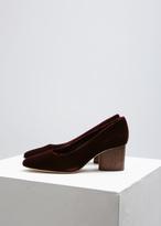 Zero Maria Cornejo Merlot Simone Velvet Block Heel