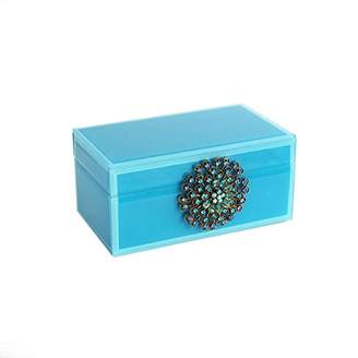 American Atelier 1280021 Jewelry Box with Brooch, Teal