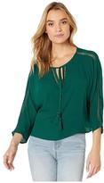 BB Dakota Fancy Free Blouse (Pine Green) Women's Clothing