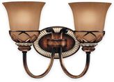 Minka Lavery Aston CourtTM 2-Light Wall-Mount Bath Fixture in Bronze with Glass Shade