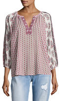 Soft Joie Randeigh Printed Peasant Blouse