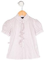 Little Marc Jacobs Girls' Printed Button-Up Top