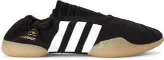 adidas Core Black Taekwondo Canvas Slip-On Sneakers