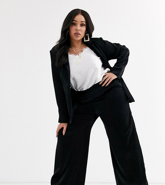 Unique 21 Hero Plus relaxed wide leg trousers in shimmer co-ord