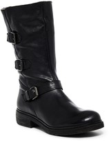 Manas Design Faux Fur Lined Tall Moto Boot