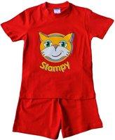 ThePyjamaFactory Stampy Cat Unisex SHORT Pajamas StampyLongNose Head FACE 7 to 12 Years (7-8, )