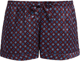 Derek Rose Brindisi 7-print silk satin pyjama shorts