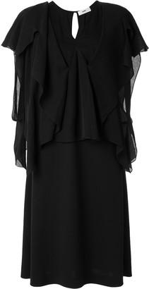 Muller of Yoshio Kubo V-neck drape sleeves dress