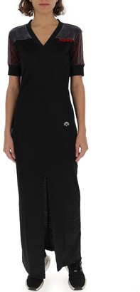 Adidas Originals By Alexander Wang Logo Panelled Maxi Dress