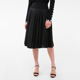 Paul Smith Women's Black Pleated Silk-Panel Skirt