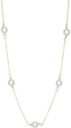 Zoë Chicco 14K Yellow Gold & 4MM Freshwater Pearl Station Necklace