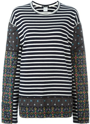 Issey Miyake Pre-Owned Striped Patchwork Jumper