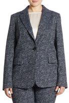 Marina Rinaldi, Plus Size Carnet Jacquard Stretch Blazer