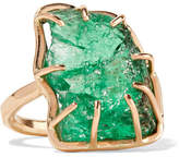 Melissa Joy Manning 14-karat Gold Emerald Ring