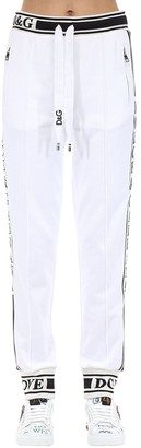 Dolce & Gabbana Cotton Jersey Track Pants W/side Bands