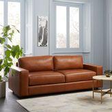 """west elm Urban Leather Sofa (84.5"""")"""