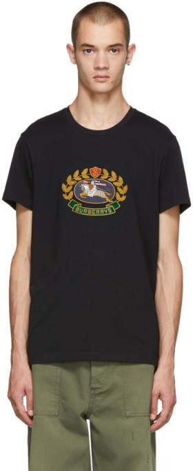 Burberry Black Gully T-Shirt