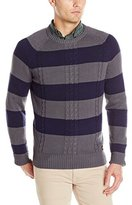 Dickies Men's Allover Rugby-Stripe Crew-Neck Sweater