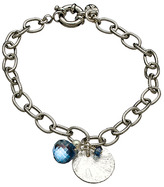 Athena Designs Blue Onion Charm Link Bracelet