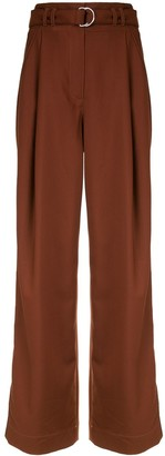 Proenza Schouler White Label Tie-Waist Flared Trousers