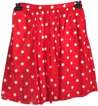 Wood Wood \N Red Cotton Skirt for Women