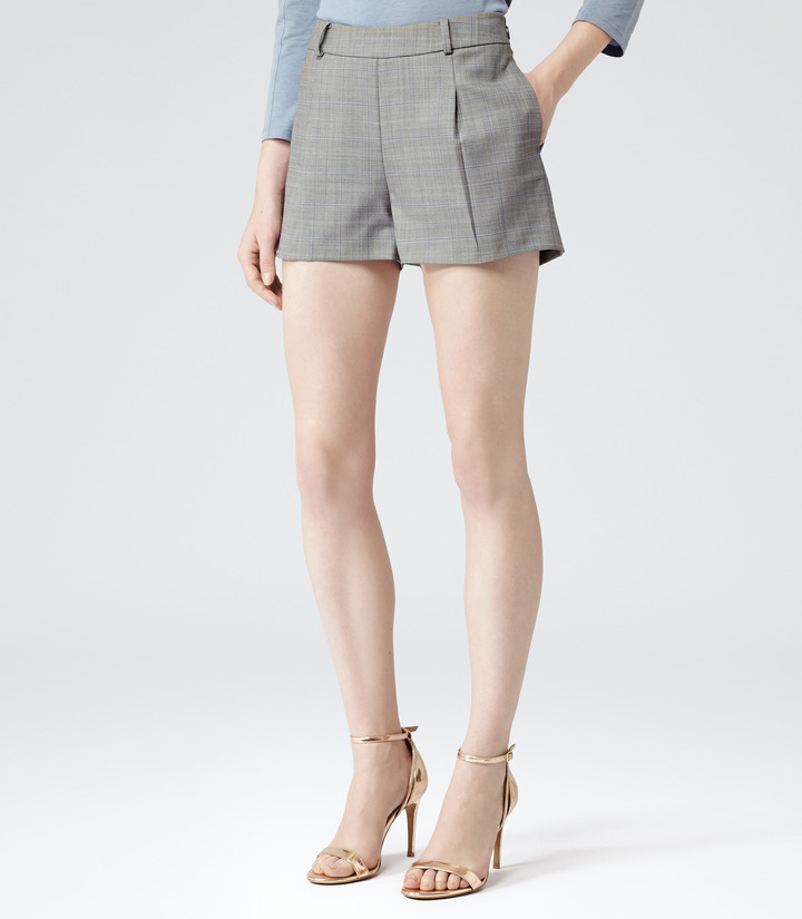 Reiss Cooper Bye CHECKED TAILORED SHORTS