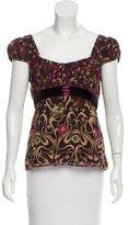Nanette Lepore Silk Floral Print Top