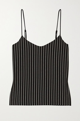 Leset Amber Pinstriped Stretch-jersey Camisole - Black