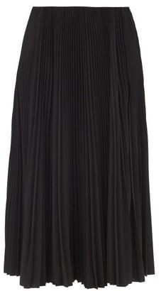 Balenciaga Plisse Crepe Midi Skirt - Black