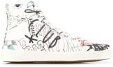 Maison Margiela Graffiti Tabi high-top sneakers