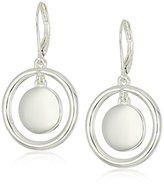 Nine West Silver-Tone Orbital Drop Earrings