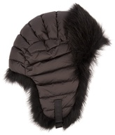 Moncler Fur-trimmed down-filled hat