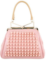 Sara Battaglia Embellished Leather Handle Bag