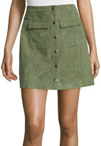 I (heart) Ronson I Heart Ronson I 'Heart' Ronson Faux-Suede Military Skirt