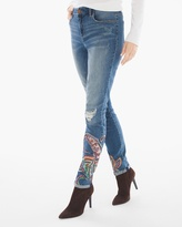 Chico's Paisley-Crafted Girlfriend Ankle Jeans