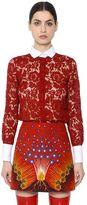 Valentino Heavy Lace & Cotton Piqué Shirt