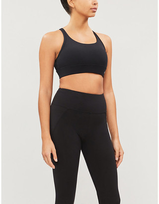 Lorna Jane Compact Compress crossover-back stretch-jersey support bra