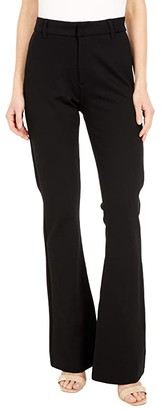 KUT from the Kloth High-Rise Ponte Flare Leg in Black (Black) Women's Jeans