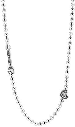 Lagos Beloved 18K & Silver Heart & Arrow Necklace