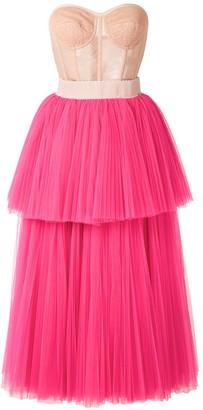 Dolce & Gabbana Strapless Bustier Tiered Dress