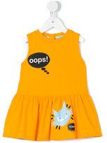 Fendi Oops! cat print dress - kids - Cotton/Spandex/Elastane - 12 mth