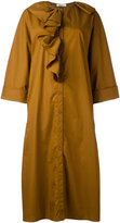 Nina Ricci ruffled shirt dress - women - Cotton - 40