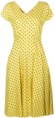 Talbot Runhof polka dot flared dress