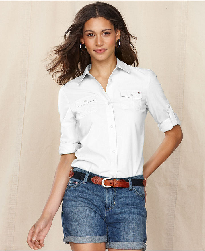 Tommy Hilfiger Shirt, Long-Sleeve Cotton Button-Down