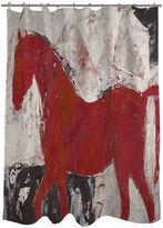 Thumbprintz Stallions Strut 2 Fabric Shower Curtain